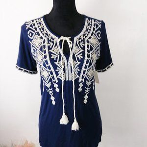 NWT Keep in touch short sleeve blouse size S